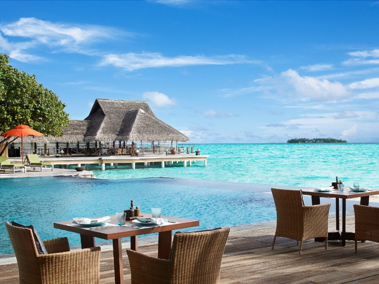 Poolside Bar And Restaurant at Taj Exotica In Maldives